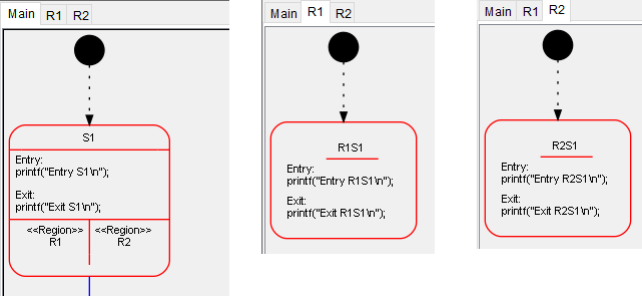 Regions can be displayed in separate windows.